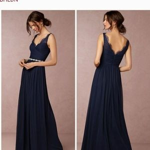 Hitherto BHLDN Fleur Navy Blue Dress size 12